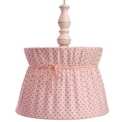 Deckenlampe rosa-weiß gepunktet