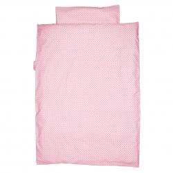 Baby Bettwäsche Punkte rosa