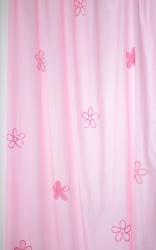 Vorhang Blumen rosa