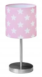 Tischlampe Sterne rosa