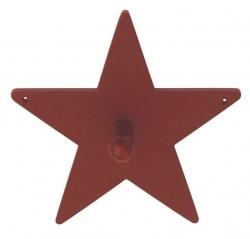 Kleiderhaken Stern rot