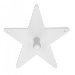 Kleiderhaken Stern weiß