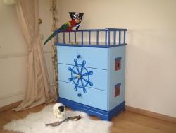 Kommode Pirat blau