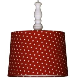 Deckenlampe Sternchen rot