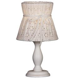 Tischlampe weiß Spitze
