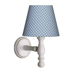 Wandlampe Karo blau
