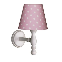 Wandlampe Punkte rosa