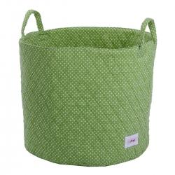 Aufbewahrungskorb grün gepunktet