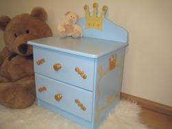 Nachttisch blau Prinz